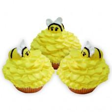 Капкейки «Пчелка на цветке»