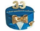 Торт с золотой бабочкой на 33 года
