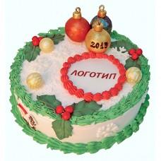 Корпоративный торт на новый год 2019