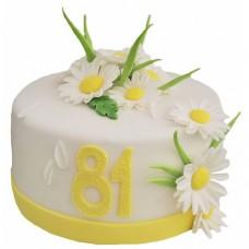 Торт с ромашками для женщины
