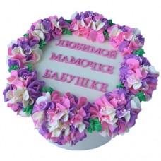 Торт с гиацинтами для женщины