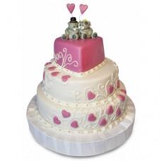 Торт «Розовое сердце»