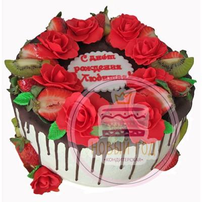 Торт «Розы для любимой»