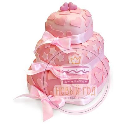 Торт «В розовом цвете»
