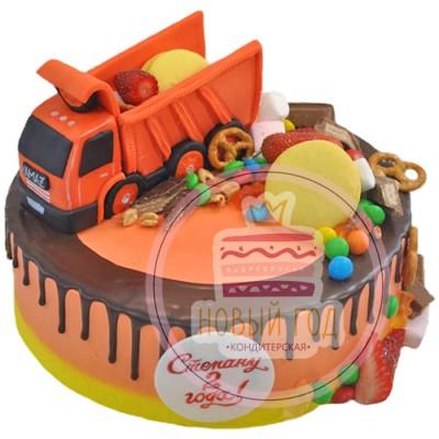 Торт с КамАЗом на 2 года для мальчика