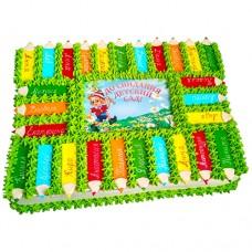 Торт с Буратино на выпускной в детский сад