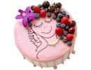Зеркальный торт с ягодами для девушки