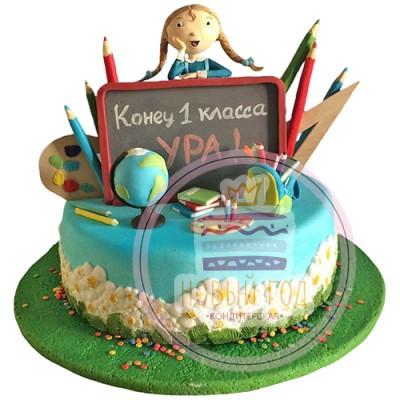 Торт на выпускной 4 класс «Ромашки»