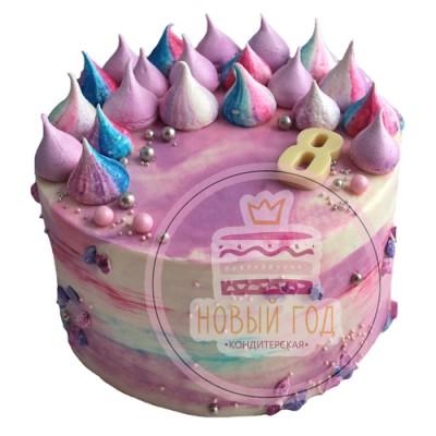 Торт «Разноцветные безе»