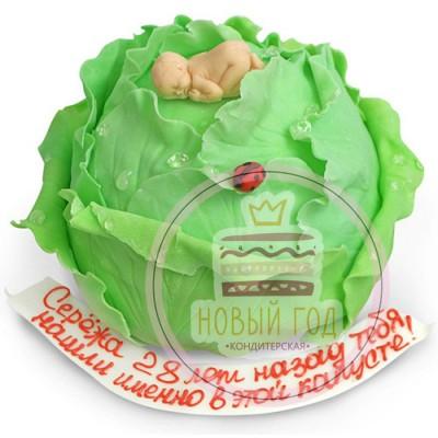 Торт «Нашли в капусте»
