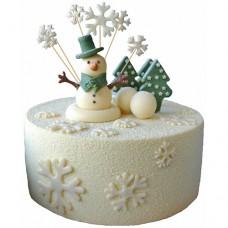 Торт «Шоколадный снеговик»