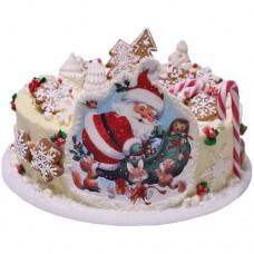 Детский новогодний торт с дедом Морозом