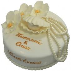 Торт на жемчужную свадьбу 30 лет
