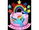 Торт Май Литл Пони с радугой
