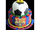 Торт с футбольным мячом «ФК Барселона»