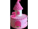 Торт в виде замка принцессы