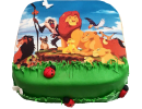 Торт с героями «Король Лев»