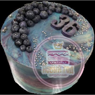 Космический торт с ягодами на 36 лет