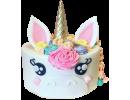 Торт для девочки с единорогом и цветами