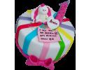 Разноцветный торт на 1 годик с зайчиком