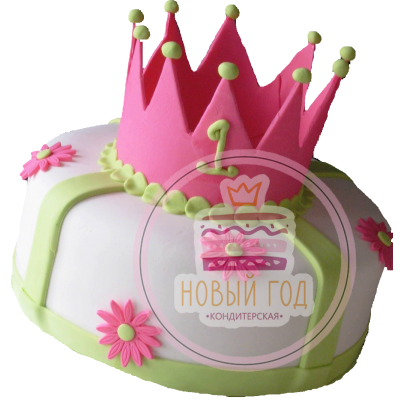 Торт с короной на 1 годик
