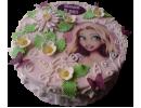 Торт с Рапунцель на 9 лет