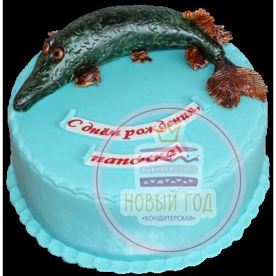 Торт в виде щуки
