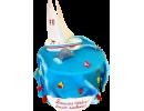 Торт на 70 лет с парусником в море