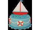 Торт в виде корабля