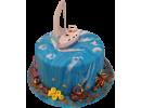 Торт с парусником в море