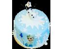 Торт с Эльзой и Олафом на 4 года
