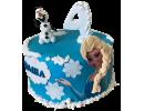 Торт «Холодное сердце» на 4 года