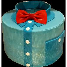 Торт в виде рубашки с бабочкой