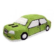 Торт в виде зелёной машины
