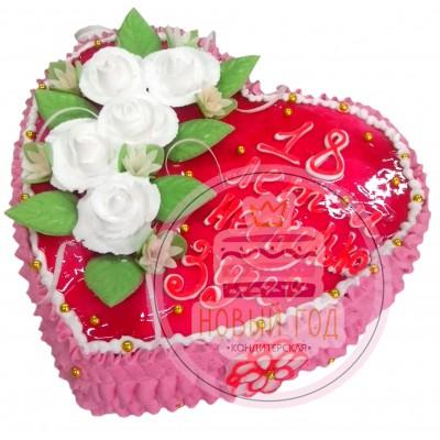 Торт-сердце «Для любимой»