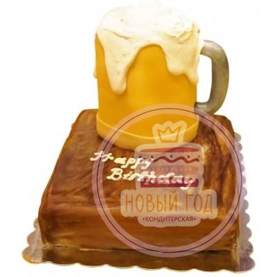 Торт «Пивная кружка на подставке»