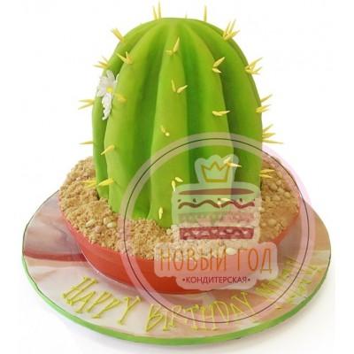 Торт в виде кактуса