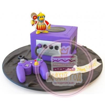 Торт в виде игровой приставки