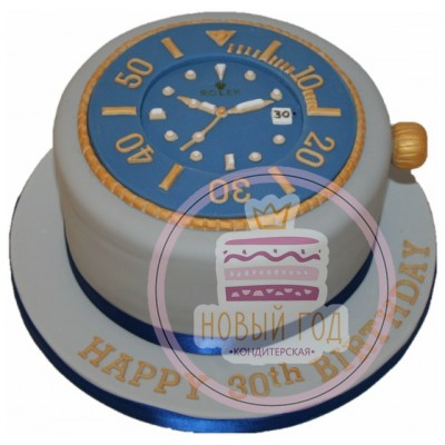 Торт в виде часов