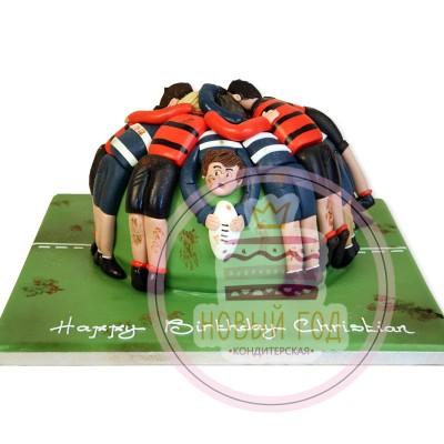 Торт для игрока в регби