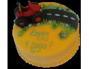 Торт с красным трактором на 4 года