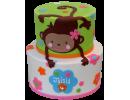 Торт с весёлой обезьянкой
