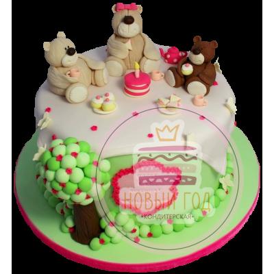 Торт «Три медведя на празднике»