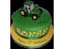 Торт с зеленым трактором