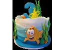 Торт рыбка в океане