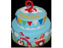 Торт с велосипедом на 2 года мальчику