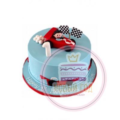Торт с гоночной машиной