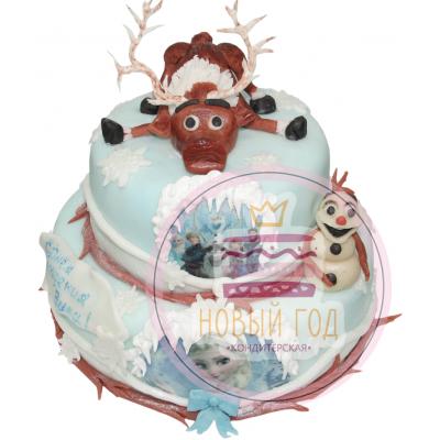 Торт с героями «Холодного сердца»
