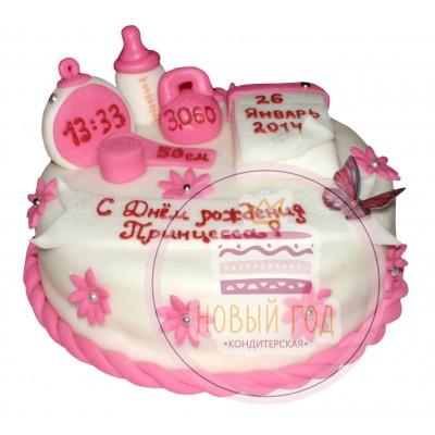 Торт с датой рождения