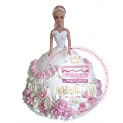Торт «Кукла Барби» в свадебном платье
